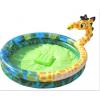 长颈鹿充气水池,圆形多边充气水池,山西充气游乐设备