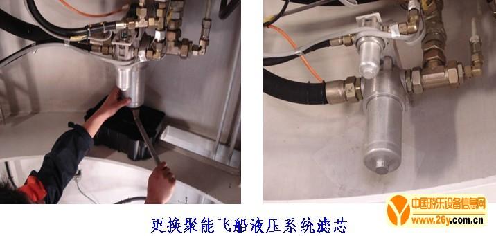 更换聚能飞船液压系统滤芯