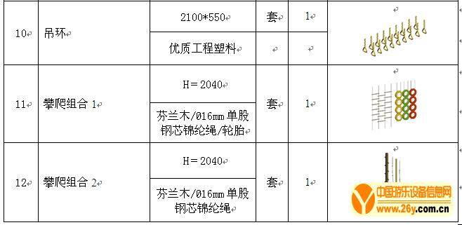 深圳南山蓓蕾幼儿园采购游乐设备清单3