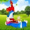 大公鸡充气电瓶车外罩新款 广场充气电瓶 车气模外罩厂家
