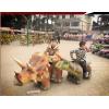 厂家供应行走仿真恐龙儿童广场电动车电瓶车