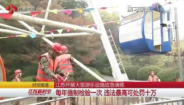 江苏大型游乐设施每年强检 违法最高可处罚十万