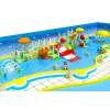 儿童戏水小品 玻璃钢滑梯 水上滑梯 水上乐园设施 水上拓展训练 中型水寨水屋 喷水蘑菇