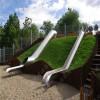 厂家热销不锈钢滑梯定制 儿童不锈钢滑梯 户外不锈钢滑梯 木质组合滑梯