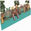 树屋滑梯儿童乐园树屋滑梯幼儿园滑梯原生态木质拓展游乐设备