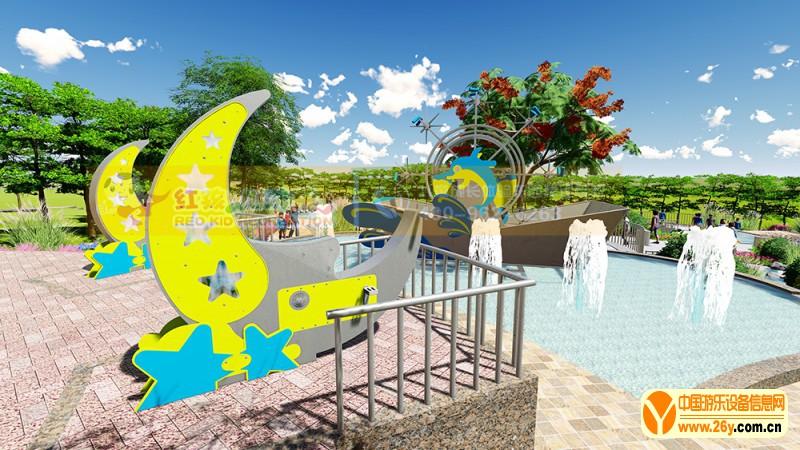 创意水上游乐设施 月亮戏水游乐设备