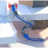 商场室内外不锈钢半透明滑梯儿童游乐木质双筒组合滑梯非标定制公园不锈钢滑梯