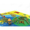 农家乐钻洞土坡组合滑梯原木拓展训练木质儿童户外游乐设施幼儿园实木攀爬架荡桥