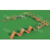 幼儿园户外木质拓展组合滑梯 室内外儿童攀爬架 体能拓展闯关训练 农场木质树屋滑梯