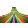 厂家直销 网红七彩彩虹滑道 旱滑 滑雪  可定制 可设计滑道