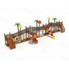 儿童游乐园拓展训练 木质组合滑梯幼儿园定制 非标不锈钢滑梯 秋千跷跷板传声筒