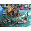 幼儿园碳化积木厂,成都儿童户外实心积木价格,四川幼儿园室外大型碳化积木拼搭