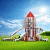 立建游乐不锈钢滑梯定制非标大型户外儿童游乐场设备商场室外拓展设施厂家