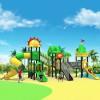 立建游乐厂家定制户外大型儿童游乐设备 公园景区木质幼儿攀爬组合滑滑梯