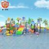 童一科技大型水上乐园厂家定制可移动支架游泳池儿童充气滑梯水上游乐设备