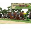 无动力游乐园小区木质滑滑梯卡通幼儿园组合树屋滑梯厂家直销